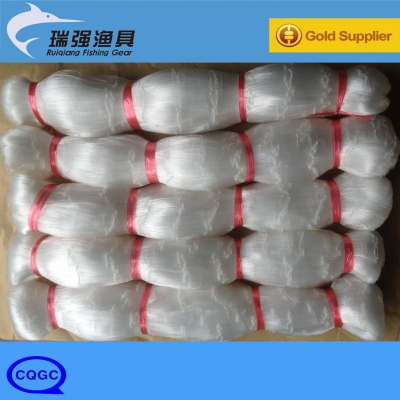 Nylon Monofilament Fishing Net With Double knot, White color, Lengthway or Depthway stretched